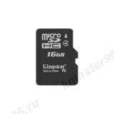 Карта памяти microSD 16Gb Kingston Class 4 без адаптера (SDC4/16GBSP)
