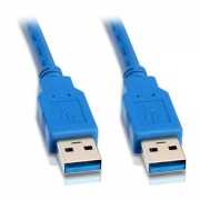 Кабель USB 3.0 AM/AМ 1.8 м (пакет) экранированный, позолоченные контакты, синий (Gembird CCP-USB3-AMAM-6)