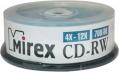 Диск CD-RW Mirex 700 Mb 4-12х Cake box 25