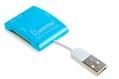Карт-ридер USB2.0 Reader Smartbuy SBR-713-B голубой