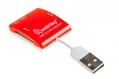 Карт-ридер USB2.0 Reader Smartbuy SBR-713-R красный