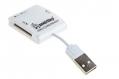 Карт-ридер USB2.0 Reader Smartbuy SBR-713-W белый