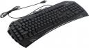 Клавиатура Gembird KB-G100L игровая, синяя подсветка символов, создание макросов, USB черная