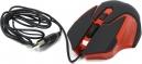 Мышь Jet.A Comfort OM-U57 чёрно-красная (1000/1600dpi) soft touch 3 кнопки USB