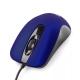 Мышь Gembird MOP-400-B темно-синяя, бесшумный клик, soft-touch, USB, 1000DPI