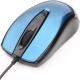 Мышь Gembird MOP-405-B синяя, объемный цвет, бесшумный клик, USB, 1000DPI