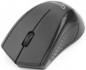 Мышь Gembird MUSW-305 беспроводная черная, 2кнопки+колесо-кнопка, 2.4ГГц, 1000dpi