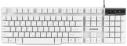 Клавиатура Гарнизон GK-200W USB белая, механизированные клавиши