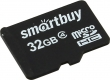 Карта памяти microSD 32Gb Smartbuy Class 4 без адаптера (SB32GBSDCL4-00)