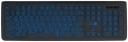 Клавиатура Jet.A SlimLine K20 LED проводная с классической раскладкой и синей светодиодной подсветкой, 105 клавиш, USB, тёмно-серая