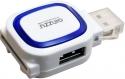 Кардридер USB 3.0 GINZZU GR-514UW 2-in-1 (SD/microSD), 1xUSB 2.0, 1xUSB 3.0, белый