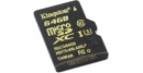 Карта памяти microSD 64Gb Kingston Class 10 UHS-I U3 без адаптера (SDCG/64GBSP)