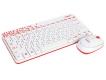 Клавиатура Logitech MK-240 Wireless Nano белый+красный рисунок (беспр.клав+беспр.мышь) (920-008212)