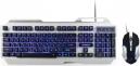 Клавиатура Гарнизон GKS-510G (комплект клавитура+мышь) игровой, металл, подсветка, код Survarium, черный/серый, 2000 DPI, антифантомные клавиши, 12 доп. функций