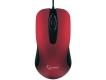 Мышь Gembird MOP-400-R красная, бесшумный клик, 2 кнопки+колесо кнопка, soft-touch, USB, 1000DPI, кабель 1.45м