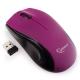 Мышь Gembird MUSW-320-P беспроводная фиолетовая, 3кн, 2.4ГГц, 1000DPI