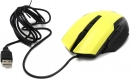 Мышь Jet.A Comfort OM-U54 жёлтая (800/1200/1600/2400dpi) 5 кнопок USB