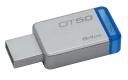 Флэш-диск 64Gb Kingston DataTraveler 50 USB3.0 серебристый/синий (DT50/64GB)